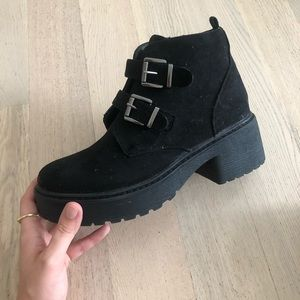 Black combat boot from ASOS